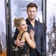 """Chris Hemsworth et sa femme Elsa Pataky - Avant-première du film """"12 Strong"""" au Lincoln Center à New York, le 16 janvier 2018. © Charles Guerin/Bestimage"""