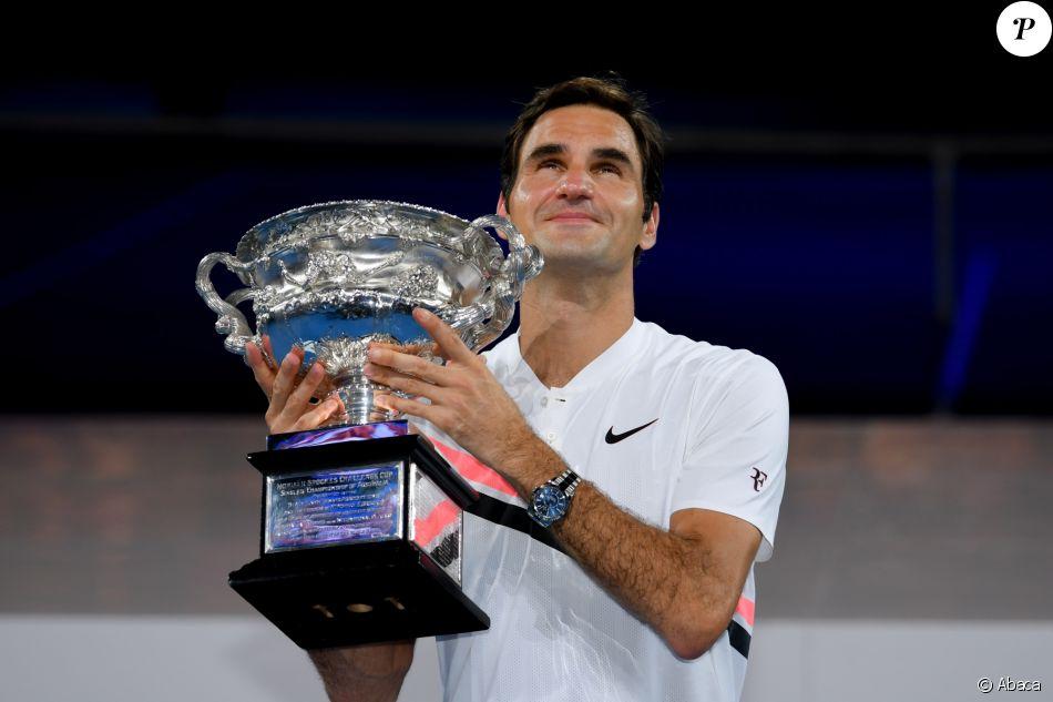 Roger Federer a remporté son 20e titre du Grand Chelem en battant Martin Cilic à l'Open d'Australie, Melbourne le 28 janvier 2018.