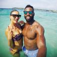 La comédienne Ariane Brodier et Fulgence Ouedraogo en vacances à Bali, la dernière semaine de Juillet 2016.