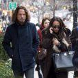 Exclusif - Chris Cornell se promène avec sa femme Vicky Karayiannis dans les rues de New York, le 15 janvier 2013.