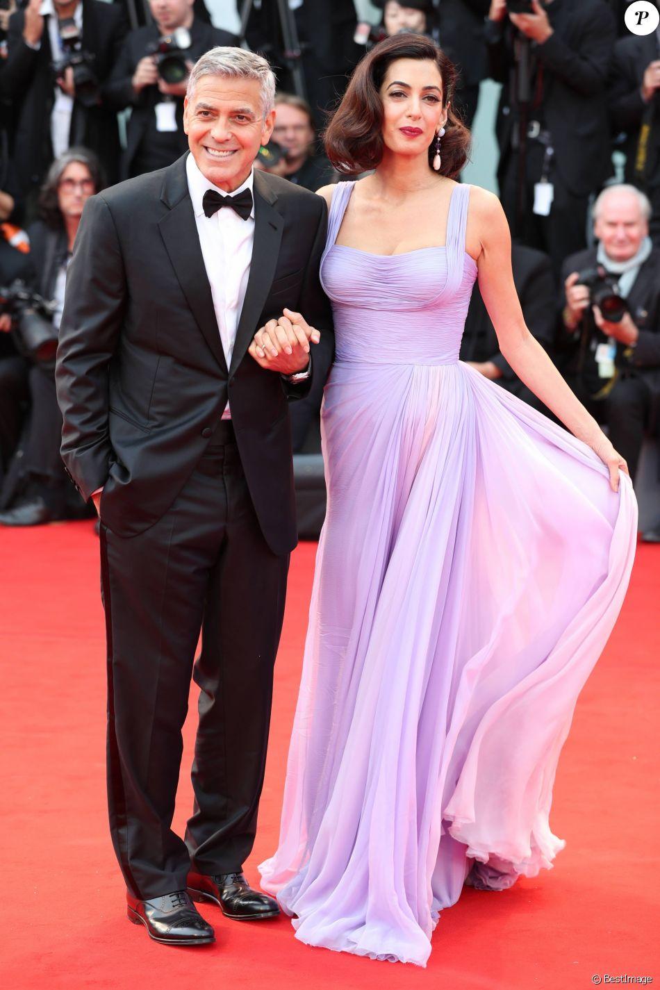 """George Clooney et sa femme Amal à la première de """"Suburbicon"""" au 74ème Festival International du Film de Venise (Mostra), le 2 septembre 2017"""
