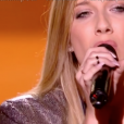 Laura dans The Voice 7 sur TF1 le 3 février 2018.
