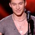 """Lucas dans """"The Voice 7"""" le 3 février 2018 sur TF1."""