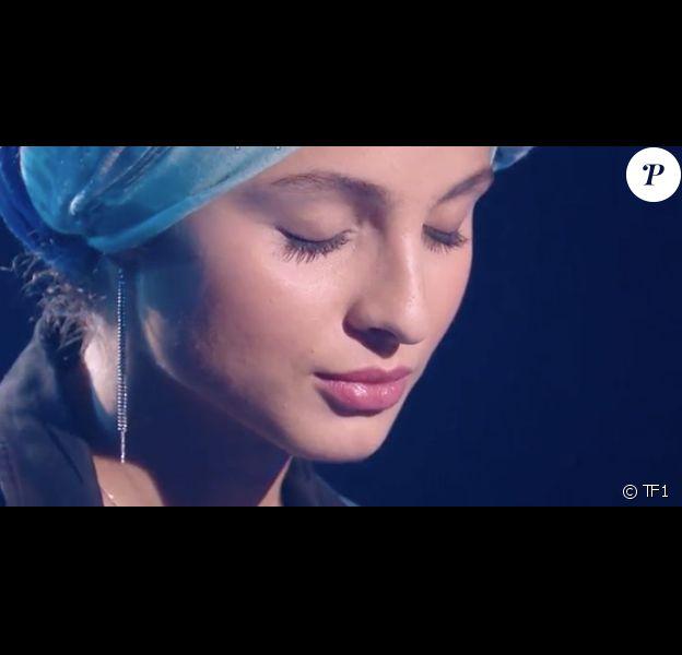 """Mennel dans """"The Voice 7"""" sur TF1 le 3 février 2018."""