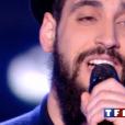 """Aliel dans """"The Voice 7"""" sur TF1 le 3 février 2018."""