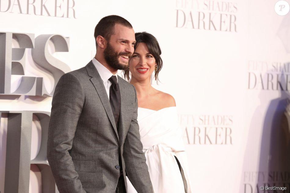Jamie Dornan et sa femme Amelia Warner à la première de 'Cinquante nuances plus sombres' à Odeon Leicester Square à Londres, le 9 février 2017