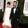 Jamie Dornan et Amelia Warner - 72e cérémonie annuelle des Golden Globe Awards à Beverly Hills. Le 11 janvier 2015
