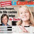 """Une du journal belge """"La Capitale"""", 2 février 2018. La fille cachée de Claude François, Julie Bocquet, se dévoile à l'aube des 40 ans de la mort de son père."""