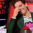 """Mika vexe Zazie après la prestation de Carlton dans """"The Voice 7"""" sur TF1 le 3 février 2018."""