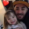 Karim Benzema fête les 3 ans de sa fille Melia, sur Twitter, le 3 février 2017.