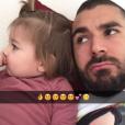 Karim Benzema et sa fille Mélia (2 ans) - février 2016