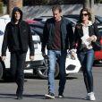 Exclusif - Cindy Crawford, son mari Rande Gerber et leur fils Presley à Los Angeles le 21 décembre 2017.