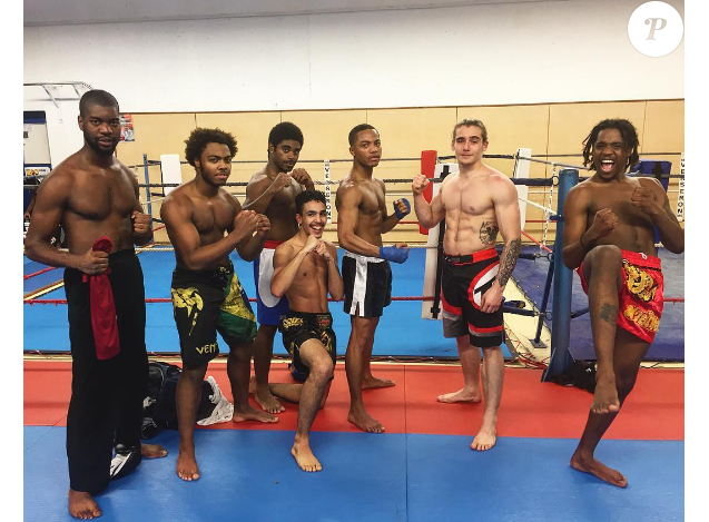 Luigi Kröner (deuxième en partant de la droite) sur une photo publiée sur Instagram le 17 novembre 2016