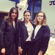 La princesse Stéphanie de Monaco avec ses filles Pauline Ducruet et Camille Gottlieb, photo Instagram pour ses 50 ans le 1er février 2015