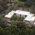 Vue aérienne de la villa de Jennifer Aniston à Los Angeles, en 2013