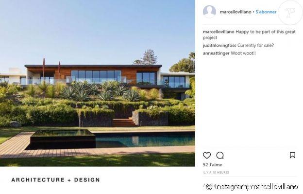 Marcello Villano a partagé une photo de la villa de sa cliente Jennifer Aniston sur Instagram. Février 2018
