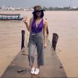 Agathe Auproux en vacances au Viêt-Nam le 24 octobre 2017.