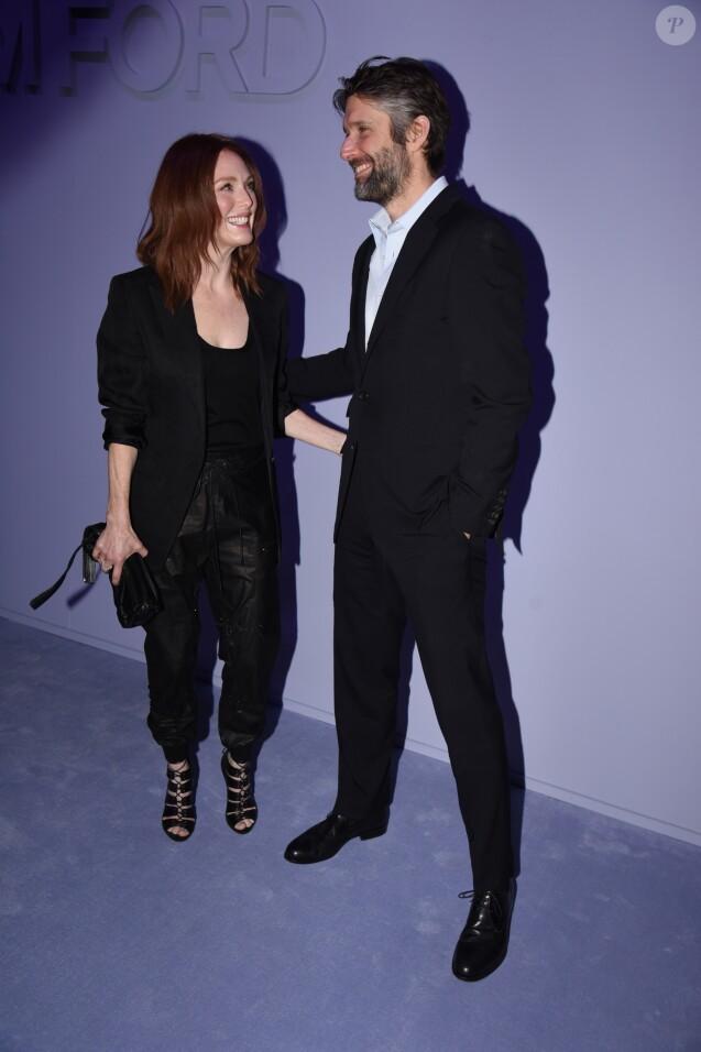 Julianne Moore et Bart Freundlich - Défilé de mode Tom Ford, collection prêt-à-porter automne-hiver 2018-2019 lors de la Fashion Week de New York, le 8 février 2018.