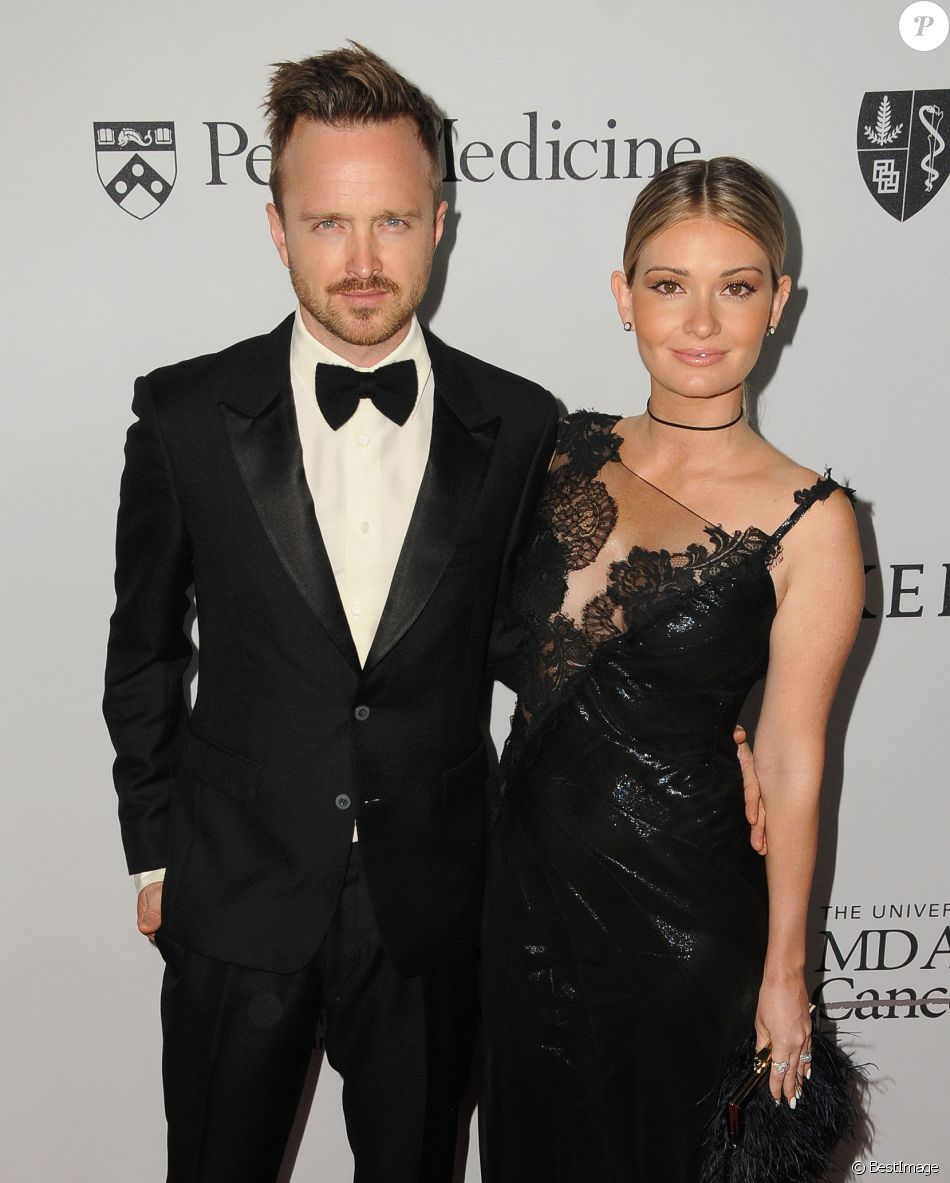 Aaron Paul et sa femme Lauren Paul à la soirée caritative Sean Parker (The Parker Institute for Cancer Immunotherapy) à Beverly Hills, le 13 avril © Birdie Thompson/AdMedia via Bestimage