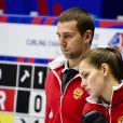 Anastasia Bryzgalova avec son mari et coéquipier Aleksandr Krushelnitckii