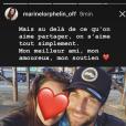 Marine Lorphelin et son amoureux Christophe fêtent la Saint Valentin le 14 février 2018.