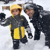 Tony Parker : Détente à la neige avec son fils Josh, qui a bien grandi !