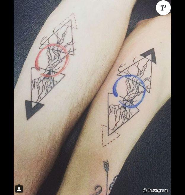 Enzo Soetens et son frère ont fait un tatouage commun.