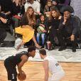 Beyoncé, Blue Ivy Carter, Tina et Richard Lawson assistent au NBA All-Star Game 2018 au Staples Center. Los Angeles, le 18 février 2018.