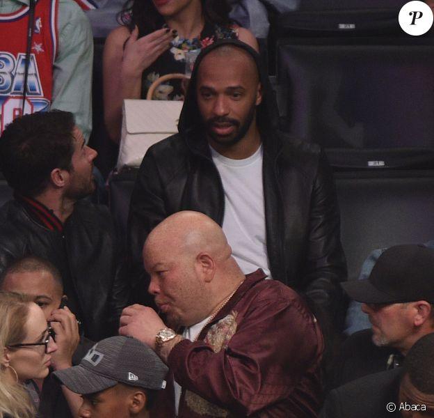 Thierry Henry assiste au NBA All-Star Game 2018 au Staples Center. Los Angeles, le 18 février 2018.