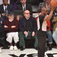 Lou Adler et Jack Nicholson assistent au NBA All-Star Game 2018 au Staples Center. Los Angeles, le 18 février 2018.