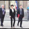 Rachida Dati sort du conseil des ministres. 18/03/09