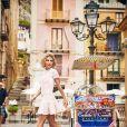 """Elsa Pataky pose pour la campagne publicitaire de """"Gioseppo"""". Italie, le 23 février 2018."""
