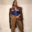 Rihanna, toute de Gucci vêtue. Février 2018.