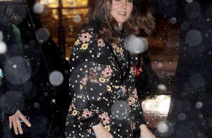 Kate Middleton, enceinte : Neige et -4°C, mais petite robe à fleurs et talons !