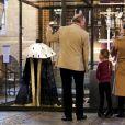 La princesse Victoria de Suède découvrait le 22 février 2018 l'exposition Vivat Regina à la cathédrale de Stockholm avec ses enfants la princesse Estelle et le prince Oscar de Suède. ©Louise Linde/Stella Pictures/ABACAPRESS.COM