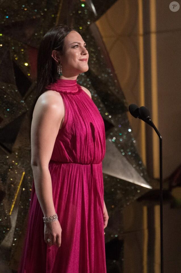 Daniela Vega présenteaux Oscars 2018.