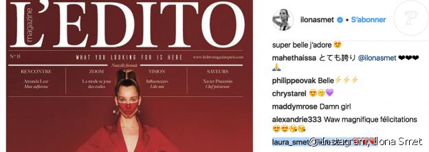 Ilona Smet félicitée par sa tant Laura Smet sur Instagram, mars 2018.