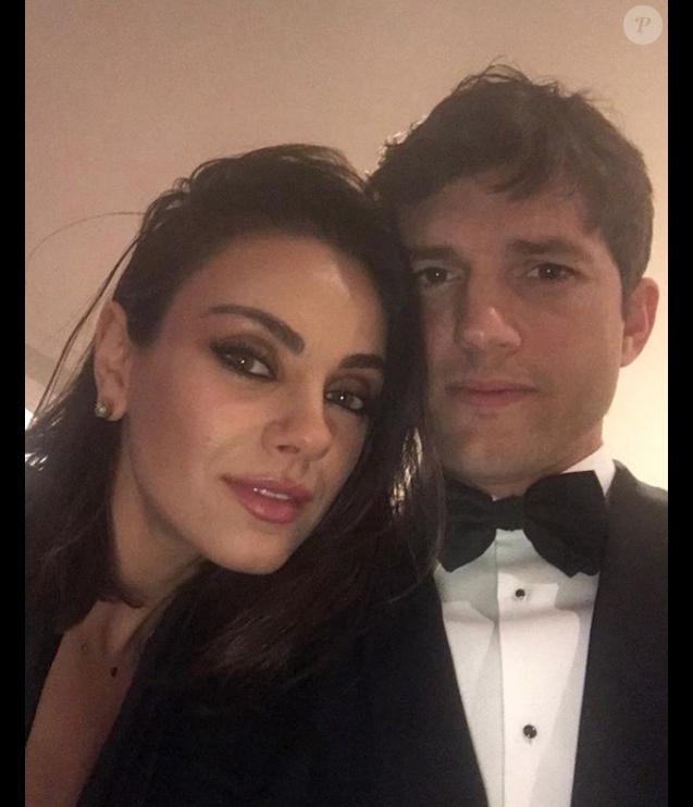 Mila Kunis et Ashton Kutcher le 4 mars 2018.
