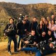 """Sarah Fraisou et le casting des """"Anges 10"""". Février 2018."""