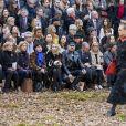 """Monique Lang, Alexandra Golovanoff, Peter Marino - Défilé de mode """"Chanel"""", collection prêt-à-porter automne-hiver 2018/2019, au Grand Palais à Paris. Le 6 mars 2018 © Olivier Borde/Bestimage"""
