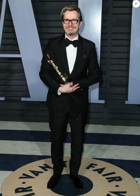 Gary Oldman à la soirée Vanity Fair Oscar au Wallis Annenberg Center à Beverly Hills, le 4 mars 2018