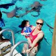 Coco et sa fille Chanel aux Bahamas. Mars 2018.