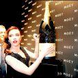 Scarlett Johansson à la soirée Moët et Chandon à Londres hier soir