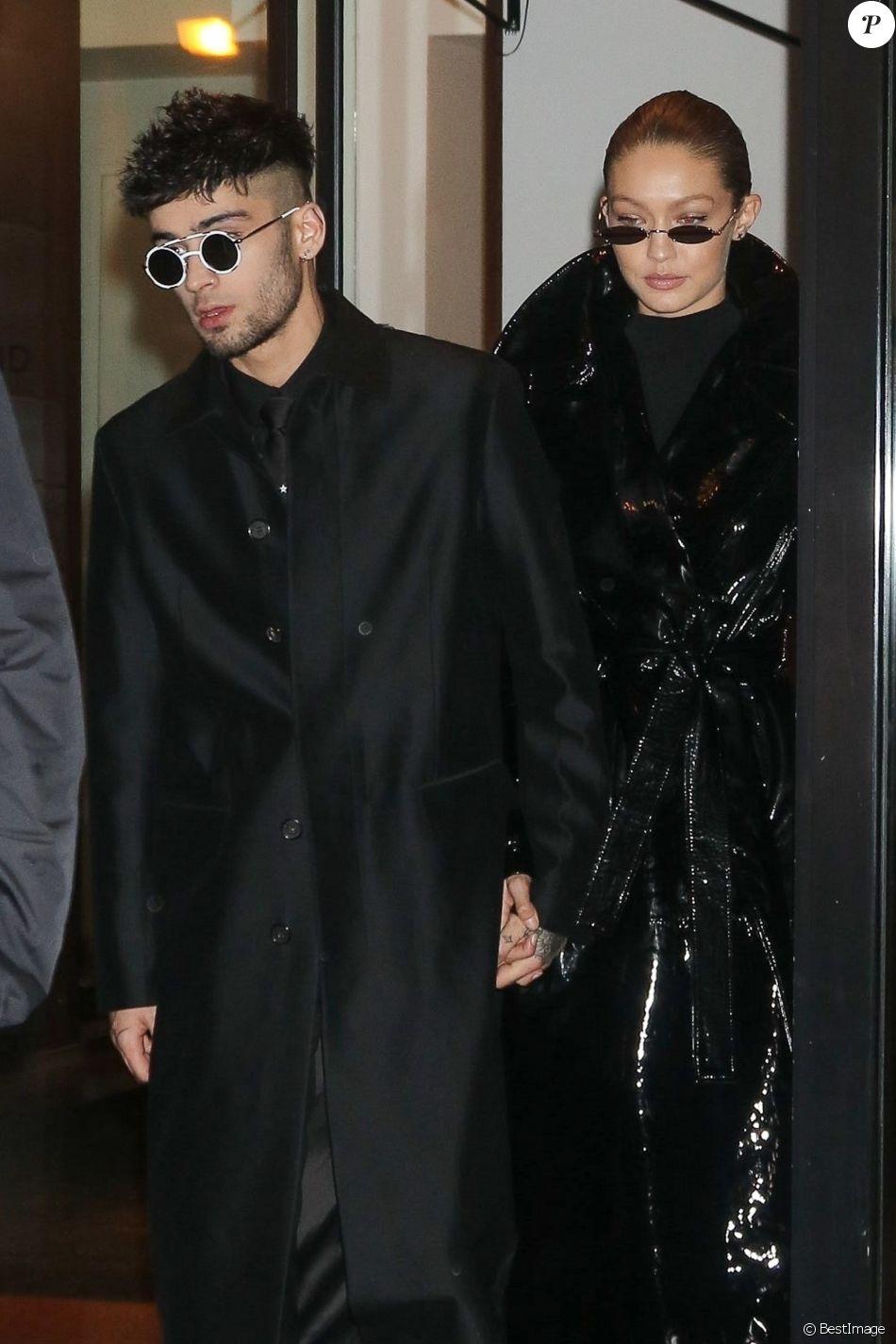 Zayn Malik fête son 25ème anniversaire en compagnie de sa chérie Gigi Hadid à New York le 12 janvier 2018.