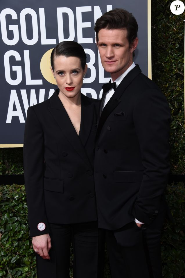 Claire Foy, Matt Smith sur le tapis rouge de la 75ème cérémonie des Golden Globe Awards au Beverly Hilton à Los Angeles, le 7 janvier 2018. © Chris Delmas/Bestimage