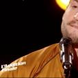 Matthias Piaux dans The Voice 7 sur TF1, le 17 mars 2018.