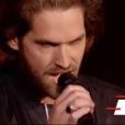 """Simon Morin dans """"The Voice 7"""" sur TF1, le 17 mars 2018."""