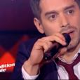 Edouard Edouard dans The Voice 7 sur TF1 le 17 mars 2018.