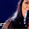 """Assia dans """"The Voice 7"""" sur TF1, le 17 mars 2018."""