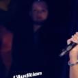 """Mélody dans """"The Voice 7"""" sur TF1 le 17 lars 2018."""